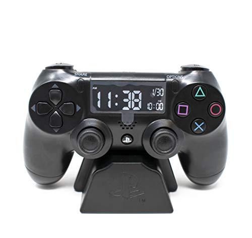 Playstation Digital Réveil LCD | PS4 Dualshock Controller Design | Utilisez Les Touches pour régler l'heure et la Date.
