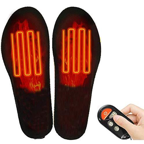 Qdreclod Semelles Chauffantes Rechargeables Sans Fil Télécommande USB Rechargeables...