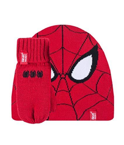 HEAT HOLDERS - Enfants Garcon Hiver Polaire Neige Chapeau et Gants pour le Froid (3-6 ans, Spiderman) prix et achat