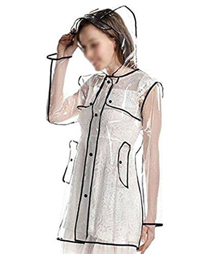 Cape Manteau de Pluie Femmes Filles Imperméable à Capuche Portable Poncho Vêtement...