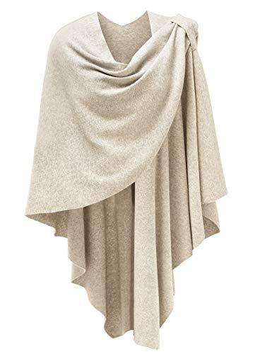 Femmes Poncho Châle Wrap Finement drapé tricoté Cape Cardigan écharpe croisée Devant pour...