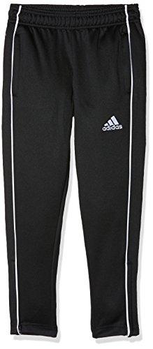 adidas Core 18 - Pantalon D'Entraînement - Mixte, Noir (Noir/Blanc), 11/12 ans