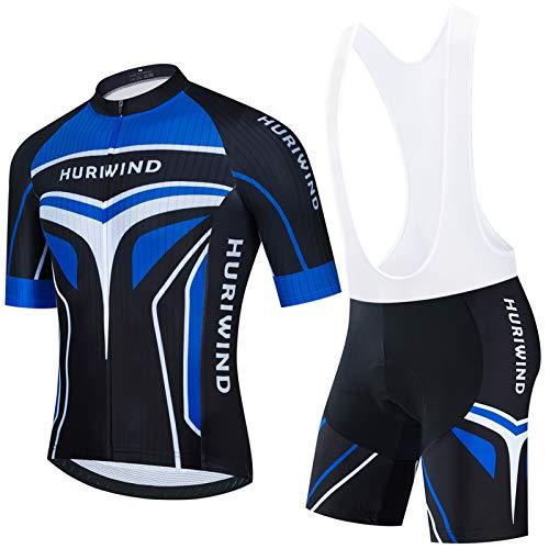Maeau Ensemble Cycliste Homme VTT Maillot de Cyclisme + Cuissard de Cyclisme Homme Tenue de...