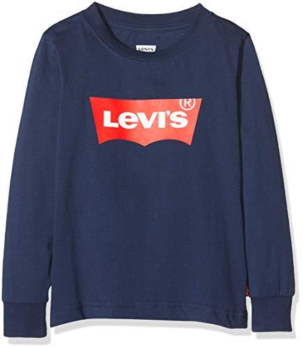 Levis Kids Lvb L/S Batwing Tee Top à manches longues Garçon Bleu (Dress Blues) 10 ans