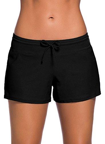 FIYOTE Shorts De Bain Femme Culotte de Maillot Casual Shorty de Plage Bas de Bain Décontracté...