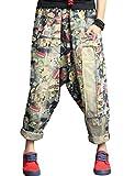 Youlee Femmes Taille élastique Sarouel Coton Jeans Style 5