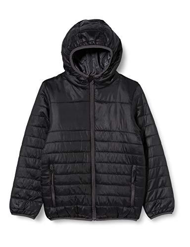 Regatta Veste Junior matelassée isolante, légère, Déperlante et Compressible avec capuche Stormforce Baffled/Quilted Jackets Enfant Black FR: XL (Taille Fabricant: 11-12)