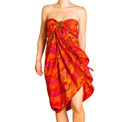 PANASIAM Sarong B014 Fireflame Orangetone