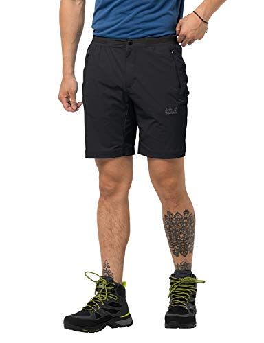 Jack Wolfskin Trail Shorts Men Shorts Homme Black FR: L (Taille Fabricant: 50)