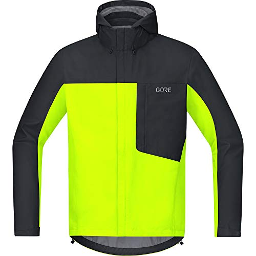 GORE Wear C3 Homme Veste à capuche GORE-TEX, L, Jaune fluo