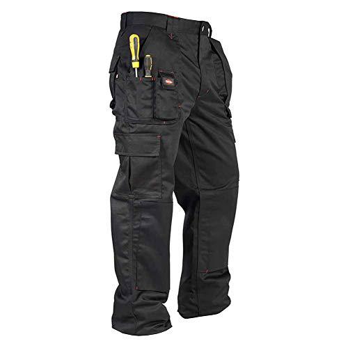 Lee Cooper Workwear Hommes Vêtements multi Pocket Easy Care Heavy Duty Genouillère Poches de sécurité de travail Pantalon cargo Pantalon, Noir, 36W/31L (Régulier)