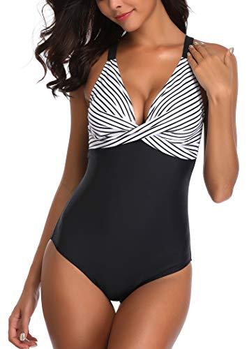 AOQUSSQOA Femme Maillot de Bain Une pièce Amincissante Slim Grande Taille Bikini Transparent...
