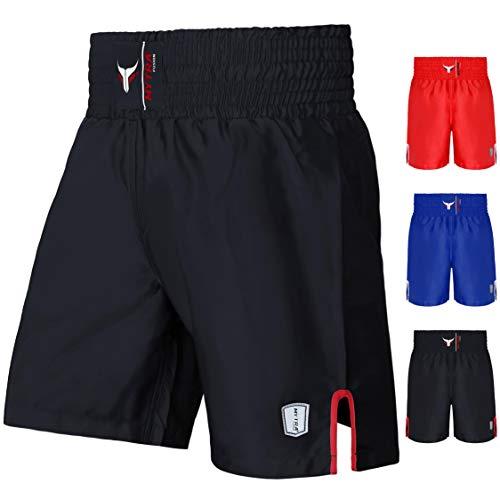 Mytra Fusion Satin Boxing Shorts, shorts MMA, shorts de combat, shorts pour bagues, shorts d'entraînement (Black, X-Large) prix et achat