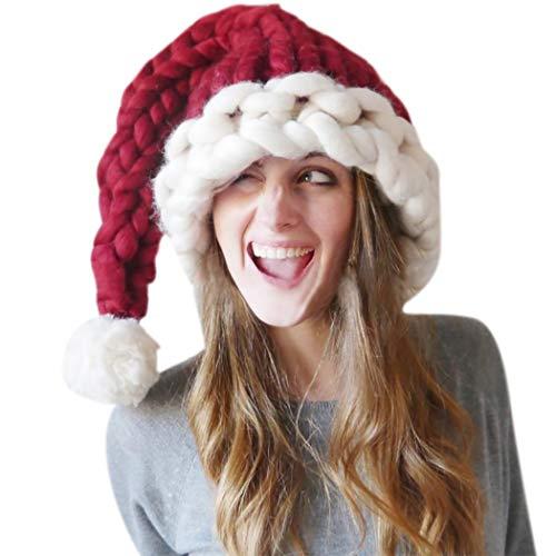 ZOYLINK Chapeau De Noël Femme Bonnet D Hiver Tricoté Bonnet à La Mode