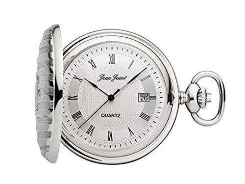 Montre de Poche JEAN JACOT - Accessoire intemporel pour homme - Mouvement à quartz - Finition chromée (Diamètre du boîtier 45 mm) - C343205