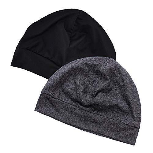 EINSKEY Bonnet de Nuit Homme Femme Doublure de Casque Skull Cap pour Sport, Chimio, Cancer, Sommeil