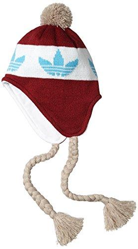 adidas Bonnet péruvien pour Homme, Homme, Mütze Peruvian, Collegiate Burgundy/Chalk White/Bright Cyan, Taille Unique prix et achat