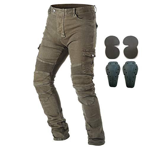 Pantalon de protection en jean pour hommes, pour moto, avec armure, 4 x protections dont...