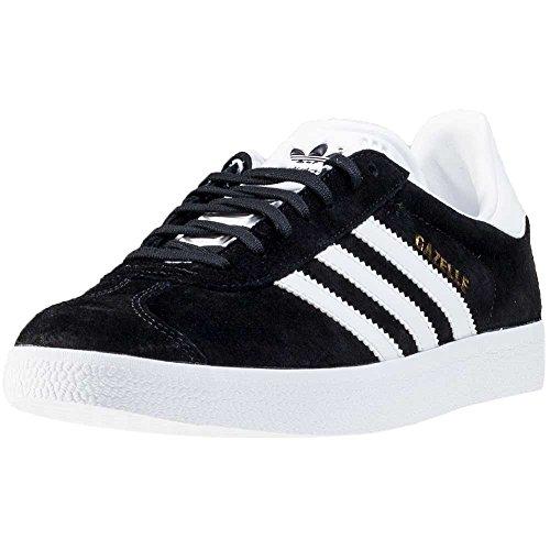 adidas Gazelle, Baskets Mixte Adulte, Noir (Core Black/White/Gold Metallic 0), EU 43 1/3