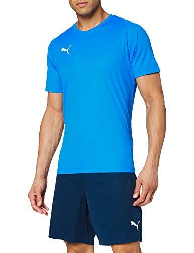 PUMA 703509 T-Shirt Homme Electric Blue Lemonade/White FR : M (Taille Fabricant : M)