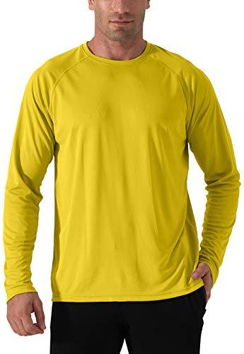 Homme T-Shirt à Manches Longues Protection Solaire Rashguard T-Shirt extérieur Anti-UV...
