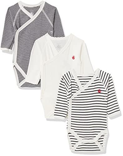 Petit Bateau 5421900 and Toddler Underwear Set, Blanc et Bleu, 6M Unisex-Baby