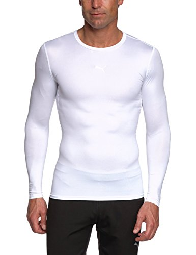Puma PB Core T-Shirt manches longues homme Blanc FR : 52/54 (Taille Fabricant : L)