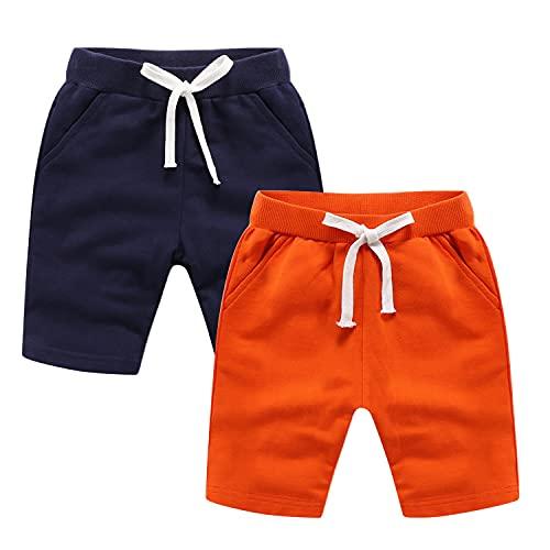 Petalum Lot de 2 Shorts Bébé Enfant Eté Pantalon Shorty Court Coton Garçon Fille Bermuda...