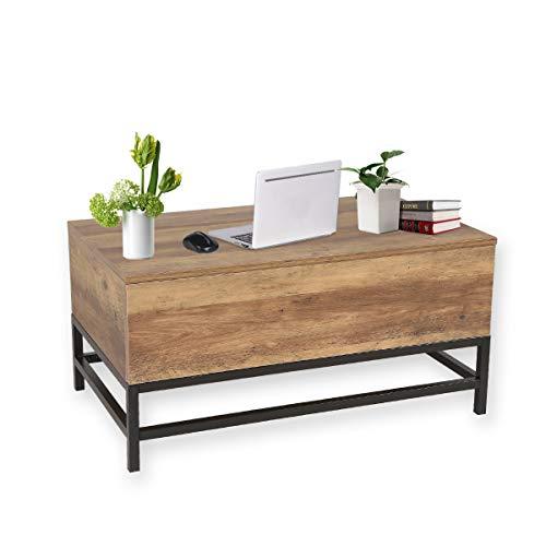Tables Basses Moderne Relevable Pour Salle à Manger Salon-80x48x40cm