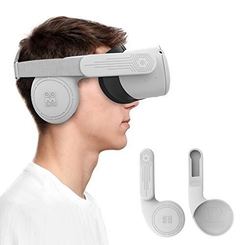 AMVR Lot De 2 Cache-Oreilles En Silicone Pour Casque Oculus Quest 2 VR Pour Un Son Amélioré (Gris) prix et achat
