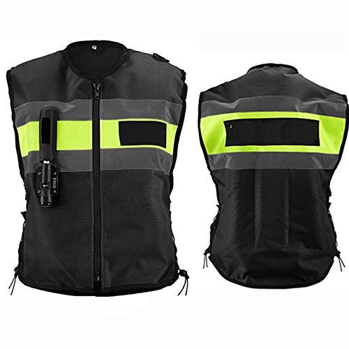 Gilet airbag de course pour moto - Coudes réglables - Serrage à la taille - Pour homme et...