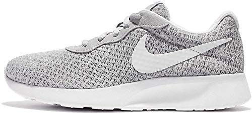 Nike Tanjun, Baskets Femme, Wolf Grey/White, 36.5 EU