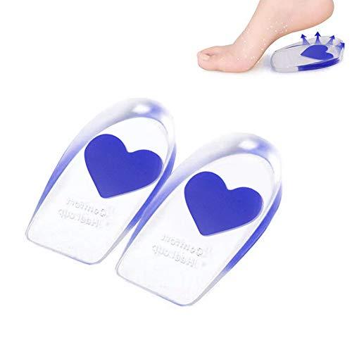 LKKCHER Paire de semelles en gel de silicone pour le soin des pieds - Taille S - Talonnette en...