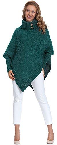 Merry Style Poncho Vêtement Femme M83N4 (Vert Sombre, One size)