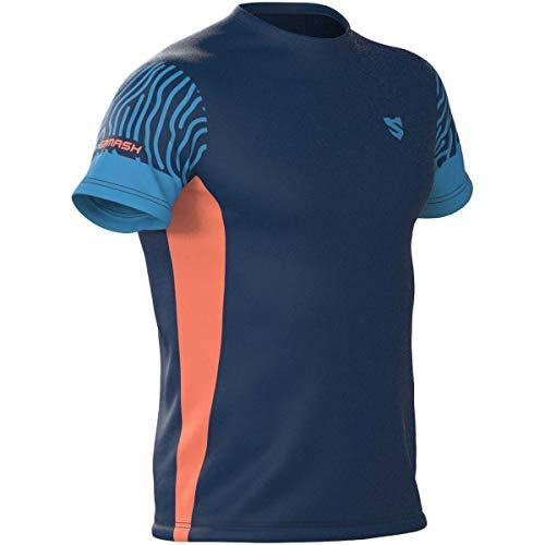 SMMASH Impress T-Shirt de Running à Manches Courtes pour Homme, t-Shirt Respirant et léger...
