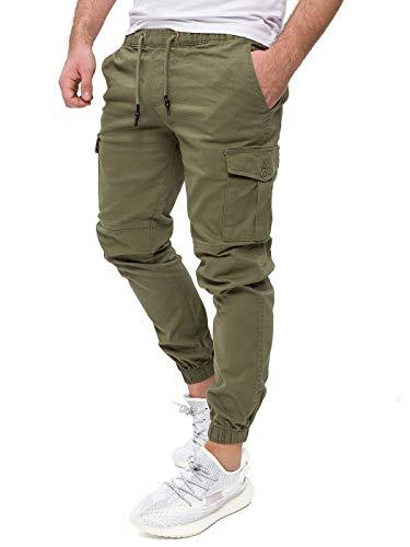 PITTMAN Pantalon Cargo Homme Pantalons Casual Sport Jogging Darius Jogger Sport militair Coton...