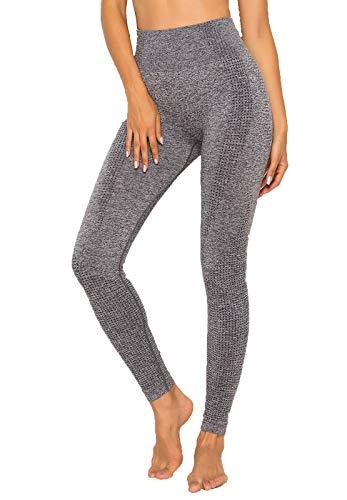 FITTOO Collant Running Femme Legging Sport Motif Jacquard Impréssion 3D Pantalon sans Couture...