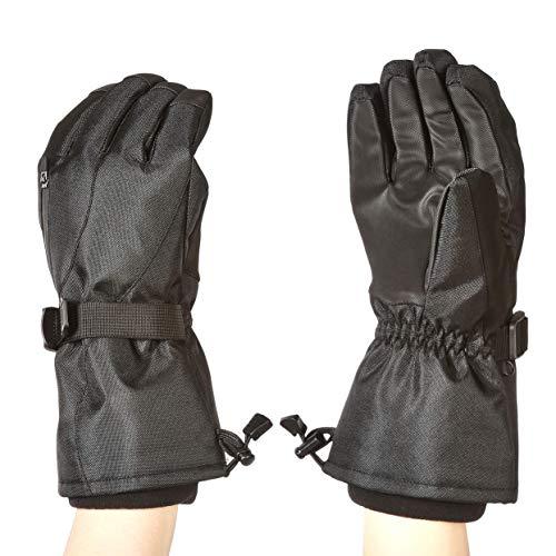Amazon Basics Gants de ski imperméables, noirs, taille M