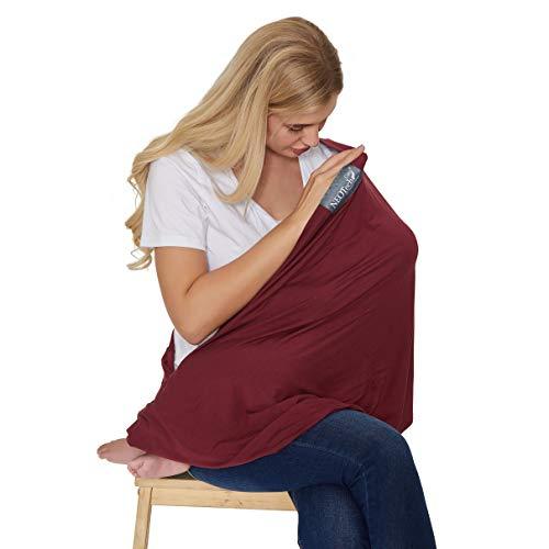 Écharpe d'allaitement pour bébé servant aussi de foulard de marque Neotech Care - Couverture large - Allaiter en privé (Couleur rouge)