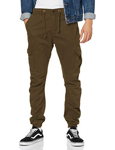 Urban Classics Cargo Jogging Pants Pantalon, Olive, XL Homme