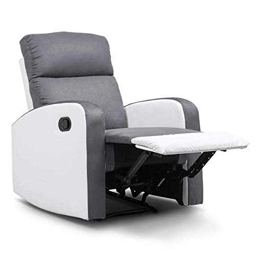 IDMarket - Fauteuil Relaxation inclinable Gris Anthracite et...