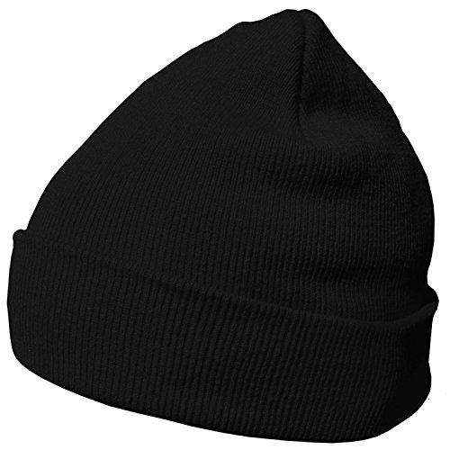 DonDon Bonnet pour l'hiver avec design classique et moderne, Noir - Taille unique