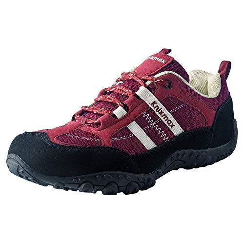 Knixmax Chaussures de Randonnéeen Plein Air Baskets de Montantes pour Femmes Rouge 41 EU prix et achat