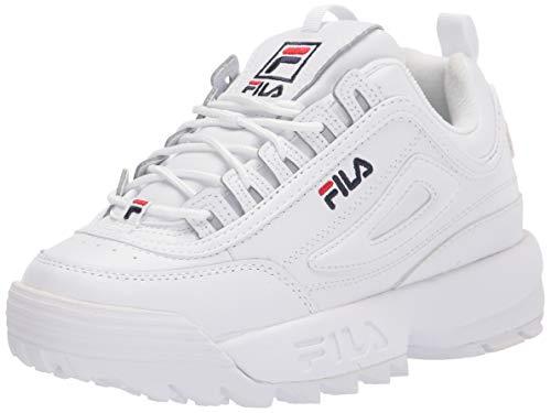 Fila Disruptor II Baskets pour femme, Blanc (Blanc/bleu marine/rouge), 40 EU