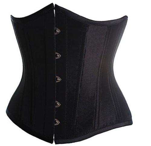 SZIVYSHI Femme Satin Serre Taille Lingerie Gothique Corset Véritable sous Poitrine Bustier Shapewear Top