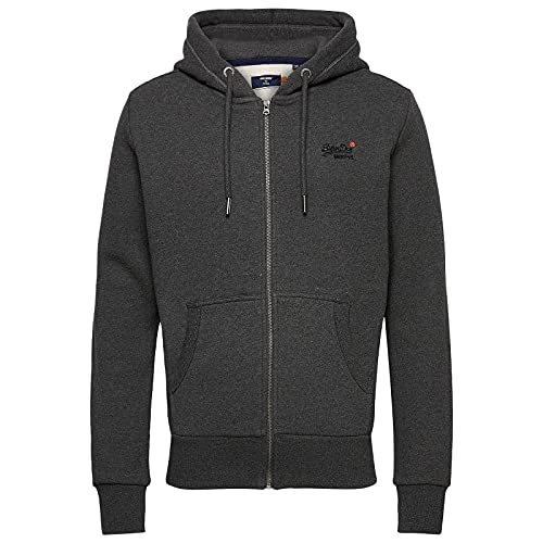 Superdry OL Classic Ziphood NS Pull-Over, Dark Marl, XL Homme prix et achat