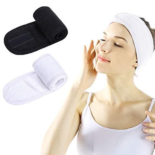 Bandeau Cheveux Femme Maquillage - Facial Spa Maquillage Bandeau Douche Bain Wrap Sport Bandeau...