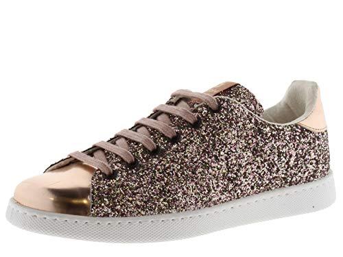 Victoria 112558-WOMEN Sneaker Tennis Glitter Basses Femme Rosa 39