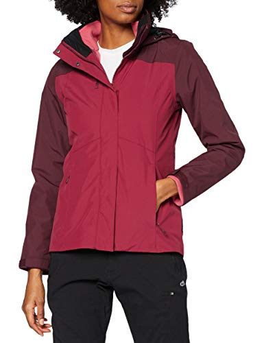Lafuma Access 3In1 Fleece JKT W Veste 3 en 1 Femme, Carmin Red, FR : M (Taille Fabricant : M)