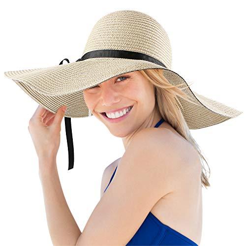 Magicfun Femme Chapeau de Soleil Large Disquette Bord Chapeau UV Protection D'été Pliable...
